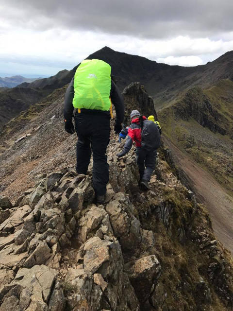 Image - ACR - hikers on Crib Goch ridge
