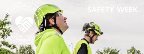"""""""Säkerhetsveckan för oss ett steg närmare ett företag fritt från olyckor"""""""