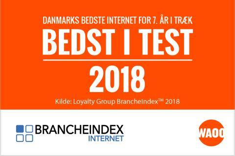 Danmarks bedste internet - 7 år i træk