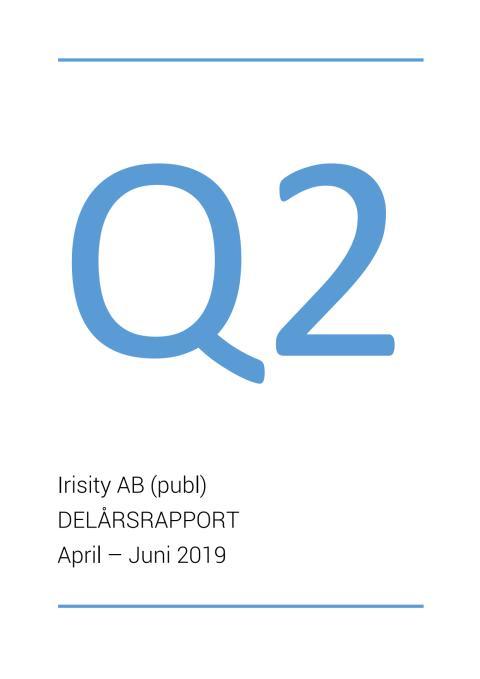 Delårsrapport andra kvartalet 2019