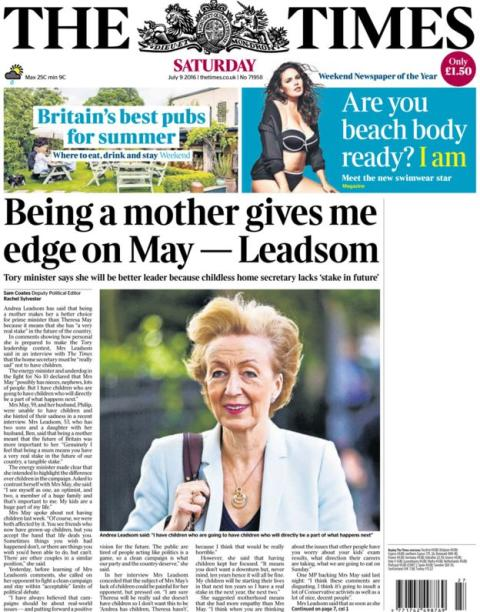 How Andrea Leadsom could have avoided the debate about her Times interview
