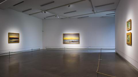 Installationsbild Bruno Liljefors och Anders Zorn