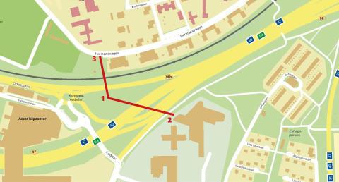 Nya rör för dricksvatten i området kring A6 – Rosenlund
