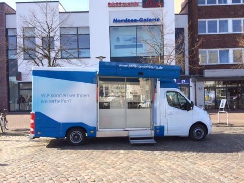 Beratungsmobil der Unabhängigen Patientenberatung kommt am 22. Oktober nach Cuxhaven.