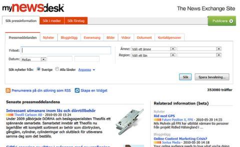 MyNewsdesk - The News Exchange Site. Ett förtydligande av vår marknadsposition.
