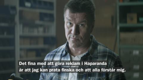 Stillbild reklamfilm Haparanda
