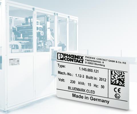 Aluminiumskyltar anpassade för utskrift med höghastighetsskrivare