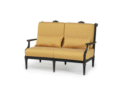 Grande Double Sofa Finished in Antique Gold With JAB Valencia Cushion