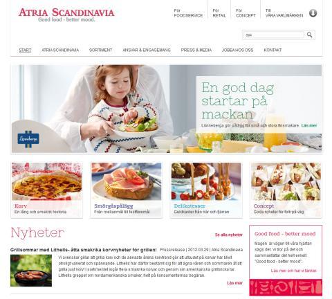 Ny webbplats på EPiServer för Atria Scandinavia