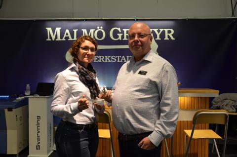 Dryga tusenlappen blev miljonorder för Malmö Gravyr