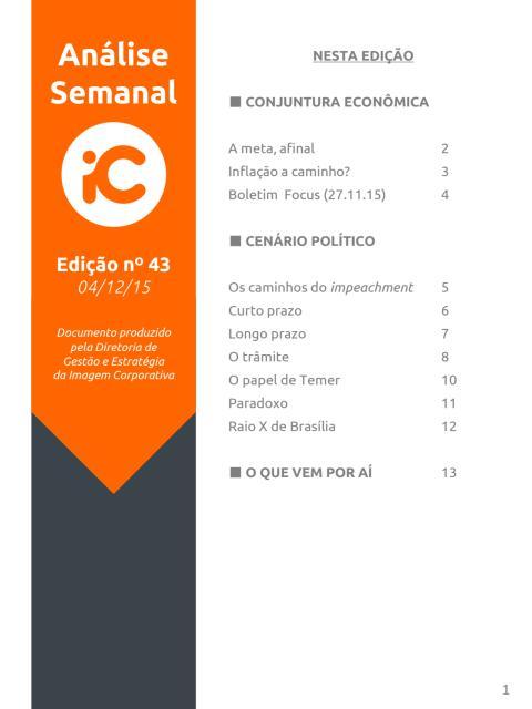 Análise Semanal IC - 04.12.2015
