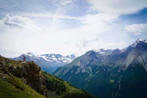 Mont Blanc kan sees fra hotellrommet -