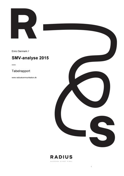 SMV-analysen 2015 - analyse af små og mellemstore virksomheders brug af markedsføring