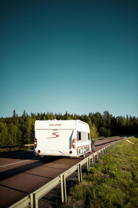 Solifer husvagn - på väg