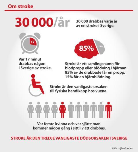 Infografik om Stroke