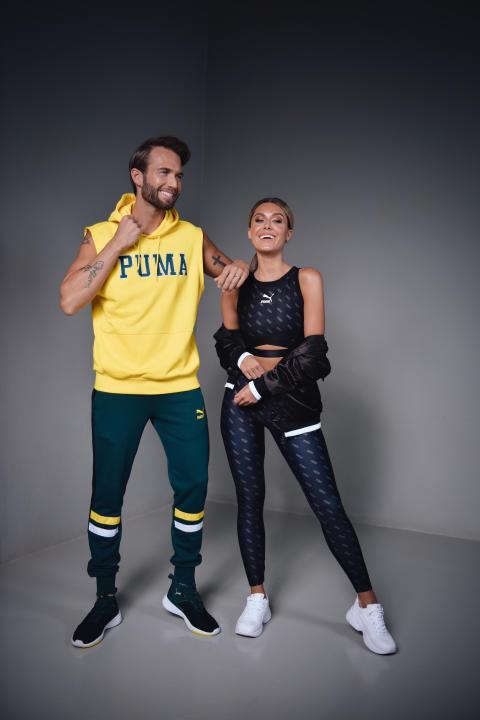 Erik Forsgren och Bianca Ingrosso för Puma exklusivt på Stadium