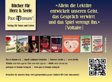 Pax et Bonum - Wie wäre es mal mit einem guten Buch?