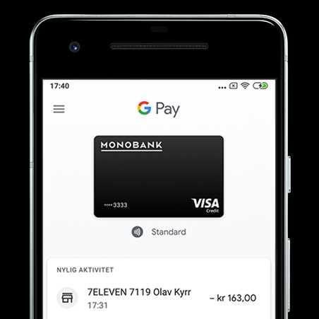 Google Pay eksempelbilde