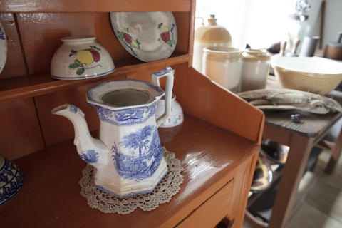 Some artefacts on display in Andrew Jackson Cottage