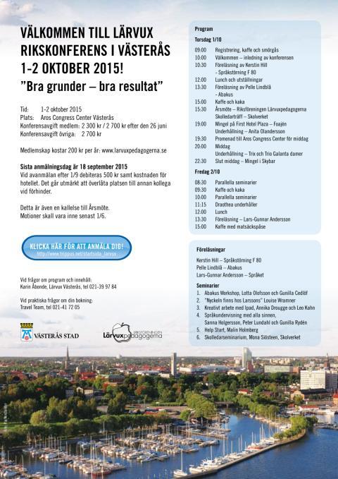 Program Lärvuxkonferens