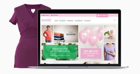 Celebration levererar skräddarsydd e-handel för Boob Design
