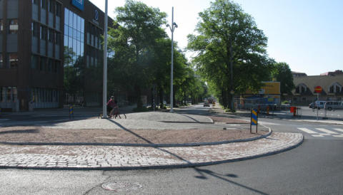Tyréns utreder gång- och cykelvägar genom cirkulationsplats