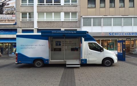 Beratungsmobil der Unabhängigen Patientenberatung kommt am 6. Februar nach Wuppertal.
