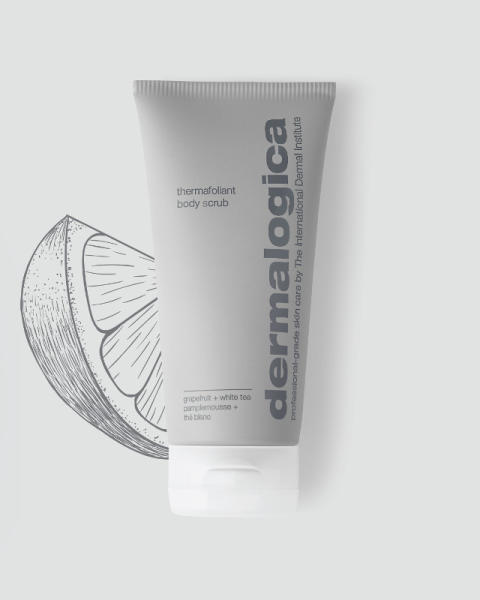 Thermafoliant Body Scrub with Grapefruit Illustration