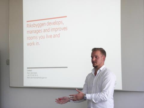 Pierre Strömbäck under utbildningen