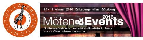 Kom och träffa oss på Möten & Events-mässan 10-11 februari i Göteborg på Eriksbergshallen