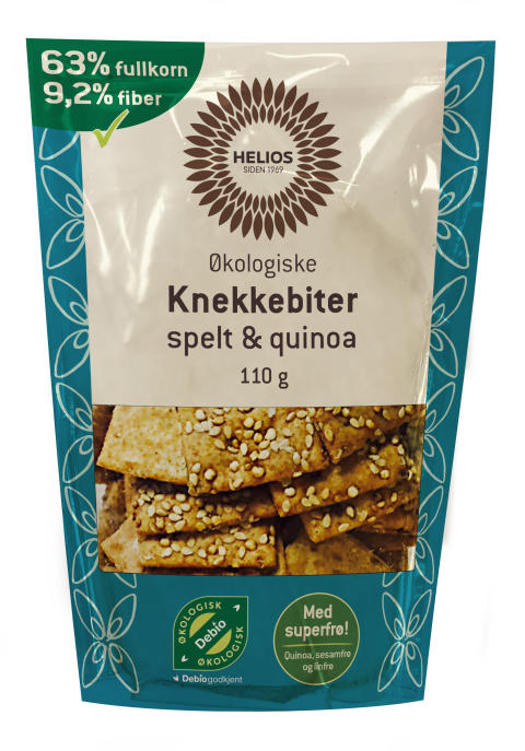 Helios knekkebiter med spelt og quinoa økologisk