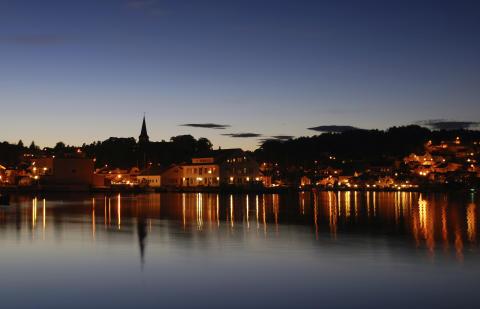 kveld i Grimstad