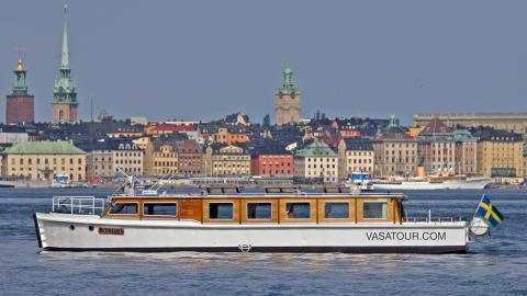 Historien om Vasa kommer till liv med en ny båtsightseeing