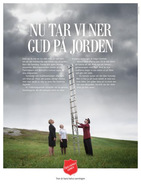 Roskildefestivalen ger donation till Frälsningsarmén i Sverige
