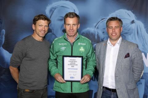 Staffan Petersson, Bergnäsets AIK, tilldelas  Woody Ungdomsledarstipendiet 2016