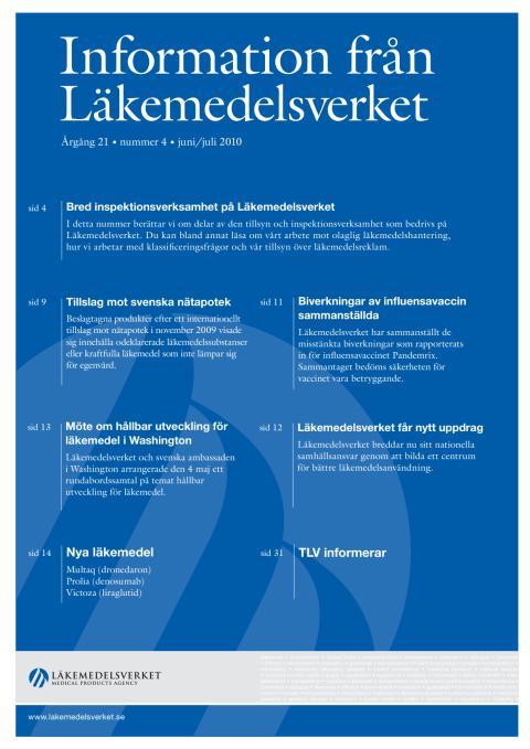 Information från Läkemedelsverket #4 2010