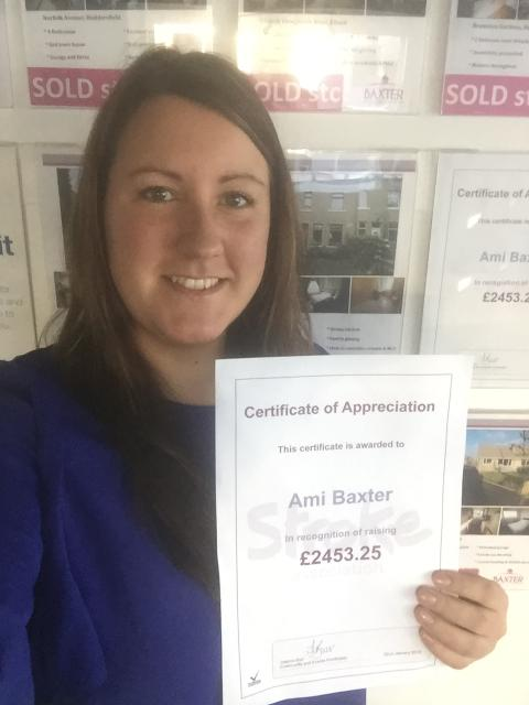 ​Elland Estate Agent raises over £2,450 for the Stroke Association in memory of her mum