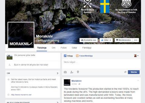 366% tillväxt på Facebook – Morakniv Sverigetvåa
