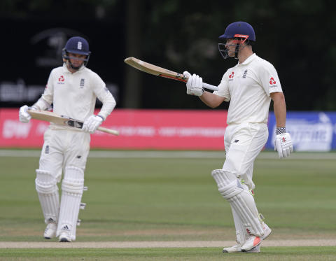Hain and Curran pass 50 as England Lions bat out draw against Australian XI