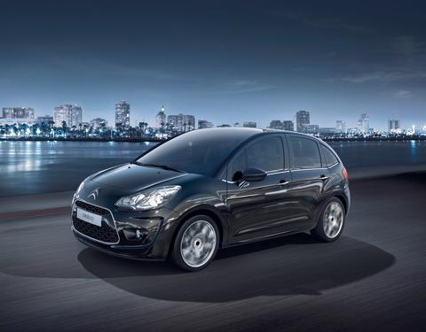 Nya Citroën C3 miljöbild snett framifrån