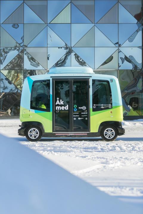 Självkörande buss från Nobina