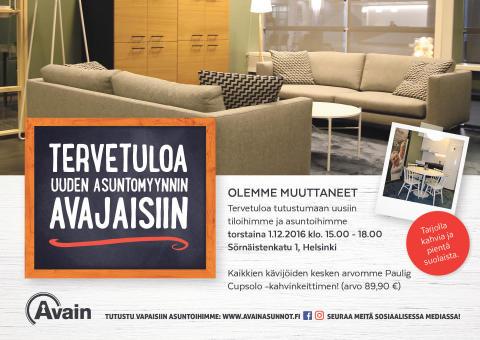 Tervetuloa uuden asuntomyynnin avajaisiin 1.12.!