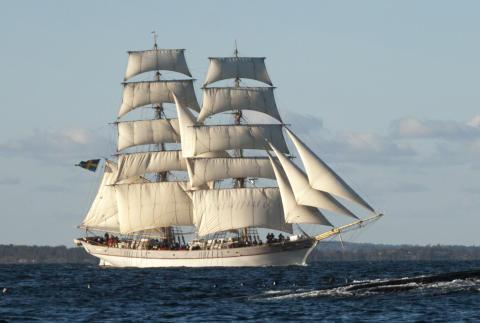 Hållbara Hav och den vackra briggen Tre Kronor gästar Nyköping 17-19 maj