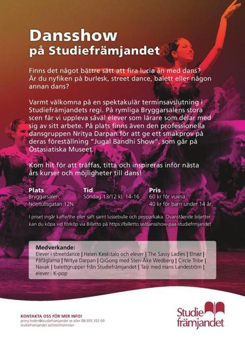 Dansshow på Studiefrämjandet