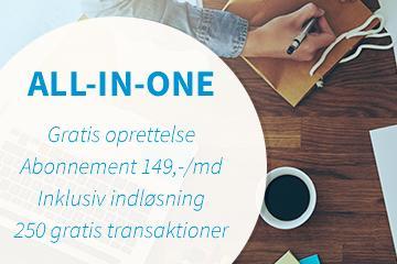 All-in-One: Alt hvad du skal bruge for at modtage online betaling i din webshop.