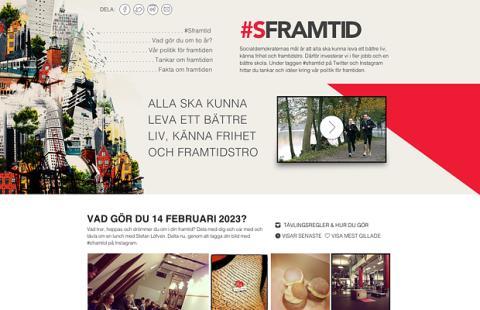 Socialdemokraterna tävlar ut lunch med Löfven på ny sajt