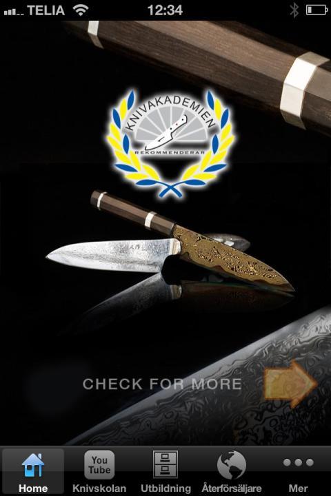 Succé app för knivval