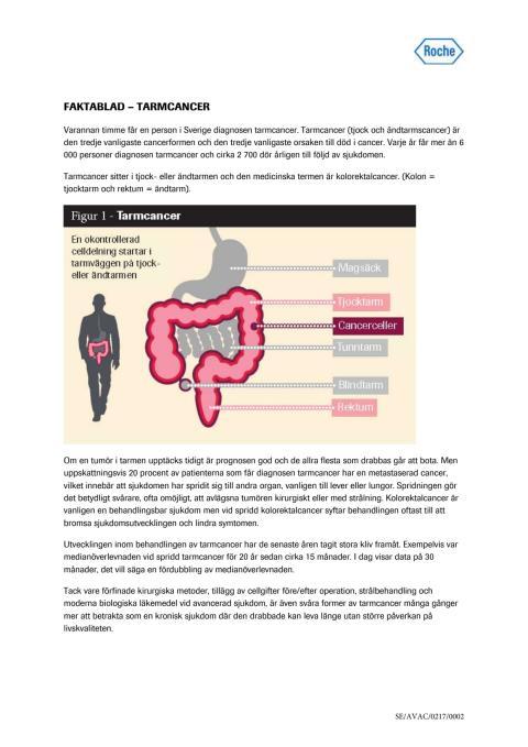 Faktablad – Tarmcancer