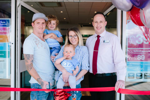 West Lothian toddler's brave battle with eye cancer revealed during relaunch of Edinburgh optician