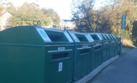 Återvinningsstationen i Valsta centrum kommer tillbaka